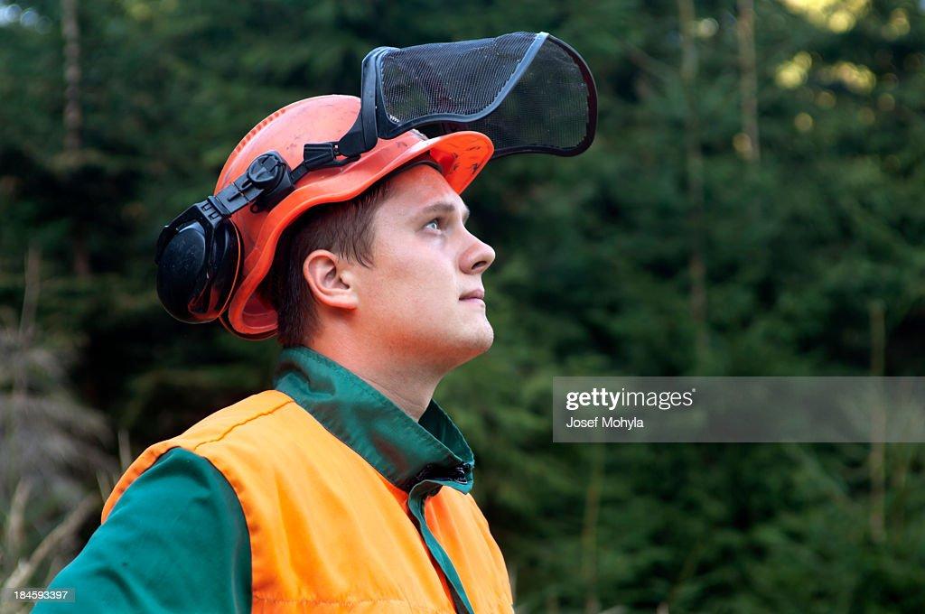Portrait of Lumberjack : Stock Photo