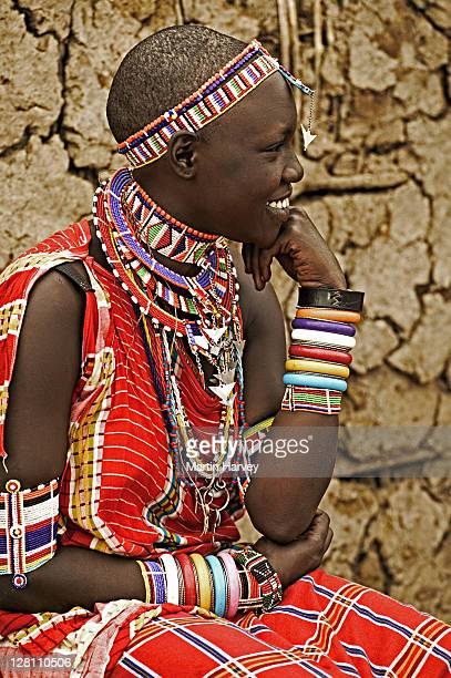 Portrait of Maasai woman, Moyiaso Lentita. Near Amboseli National Park, Kenya