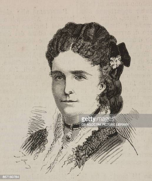 Portrait of Madame Liais traveller and painter who died on July 1 1874 in Paris France illustration from Nuova illustrazione Universale Year 1 Volume...