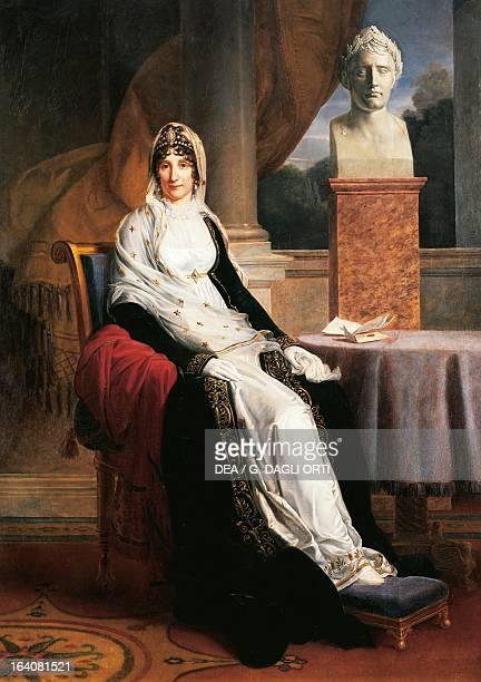 Portrait of Madame Mere Maria Letizia Ramolino Bonaparte mother of Napoleon Bonaparte Painting by Francois Gerard Versailles Château De Versailles