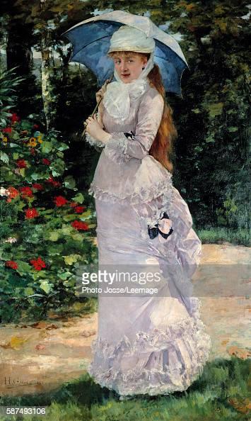 Portrait of Madame Valtesse de la Bigne courtesan principal model for Zola's Nana Painting by Henri Gervex 1889 Oil on canvas 200 x 122 m Orsay...
