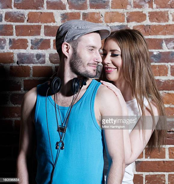Portrait of Male and Female DJ