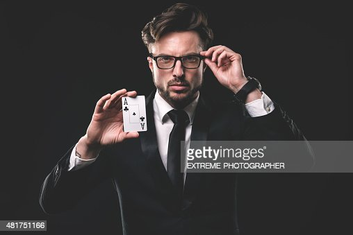 Portrait of male gambler