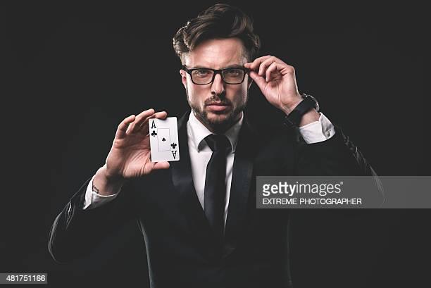 Retrato de homem gambler