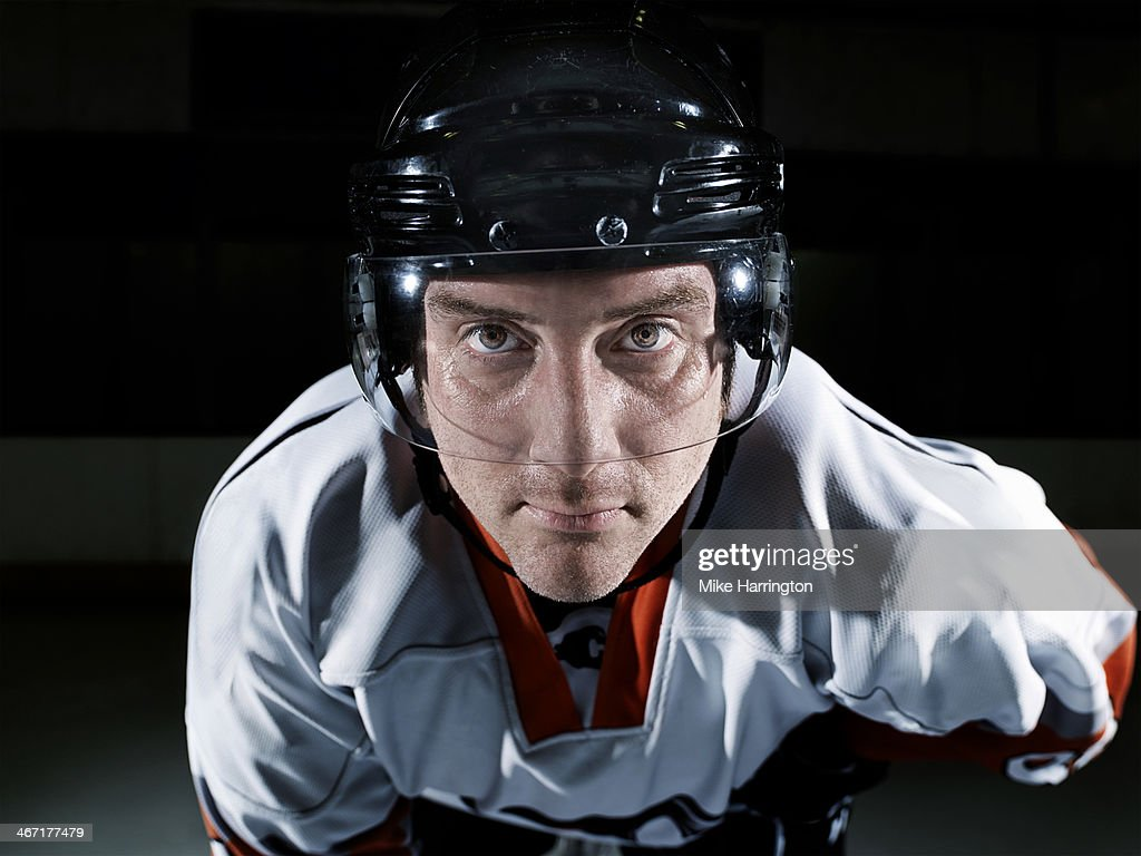 Portrait of Male Ice Hockey Player : Stock Photo