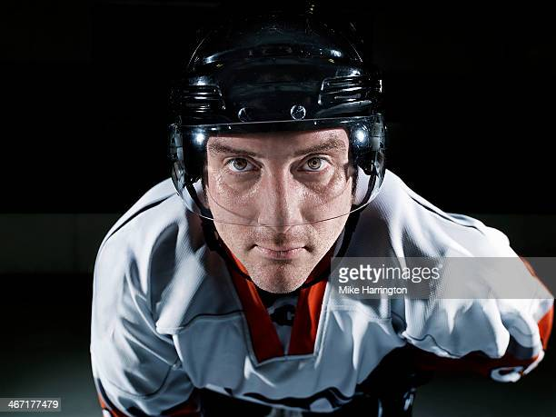 Portrait of Male Ice Hockey Player