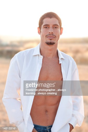 Portrait of man at sunset : Stock Photo