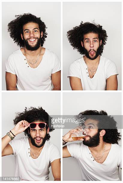 Portrait of man having fun