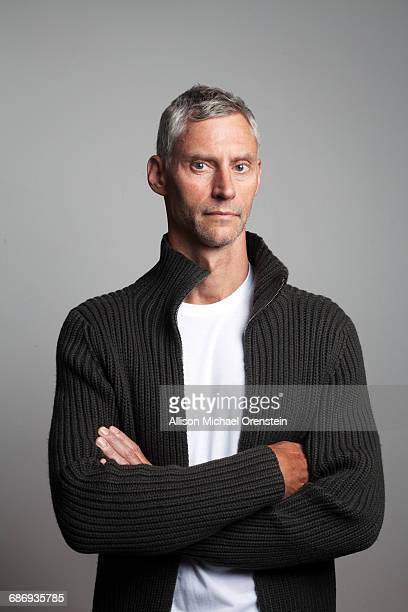 Portrait of man in a sweater in his 50's