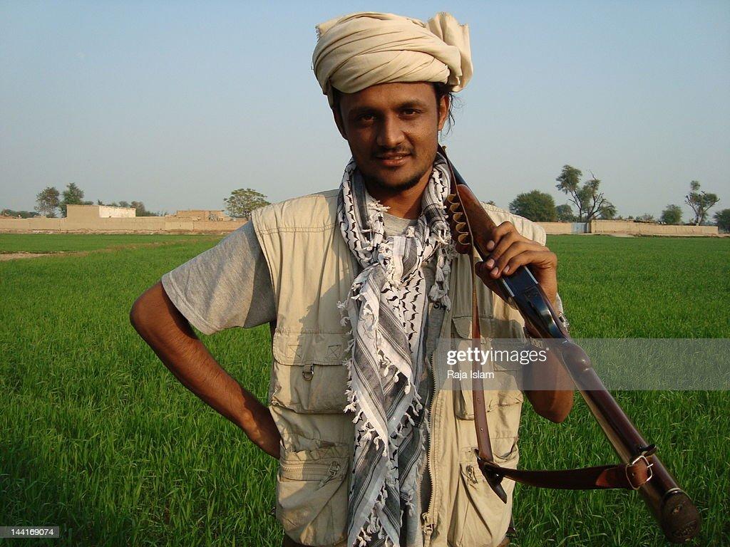 Portrait of man in local turban
