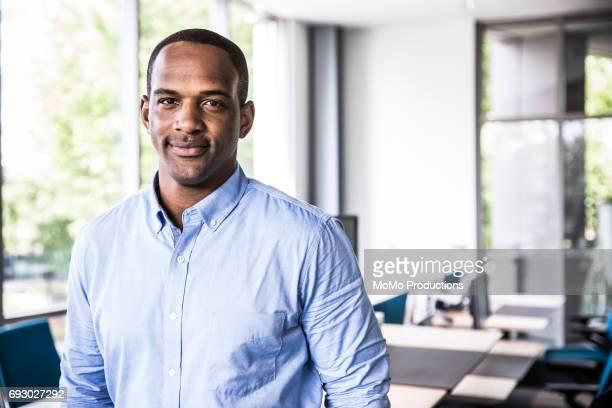 Portrait of man in modern business office