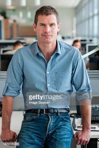Portrait of man looking at camera : Stock Photo