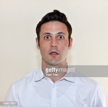 Portrait of man looking : Stock Photo