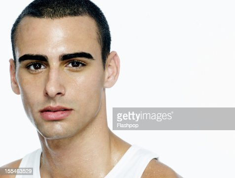 Portrait of man looking to camera : Stock Photo