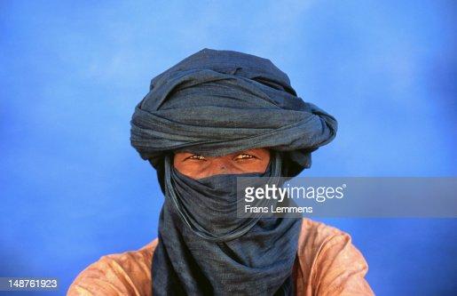 Portrait of man of the Tuareg tribe.