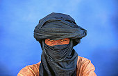 Portrait of man of the Tuareg tribe.