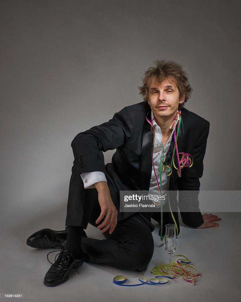 Portrait of man sitting : Stock Photo