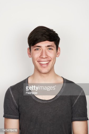 Portrait of man smiling : Stock Photo