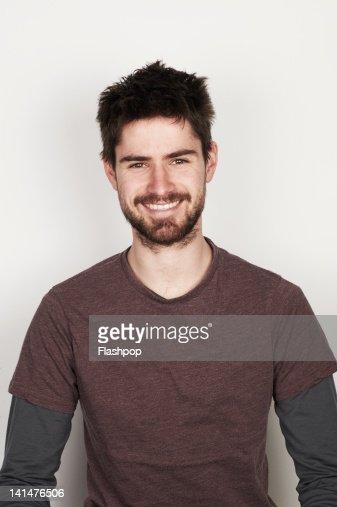 Portrait of man smiling : Foto de stock