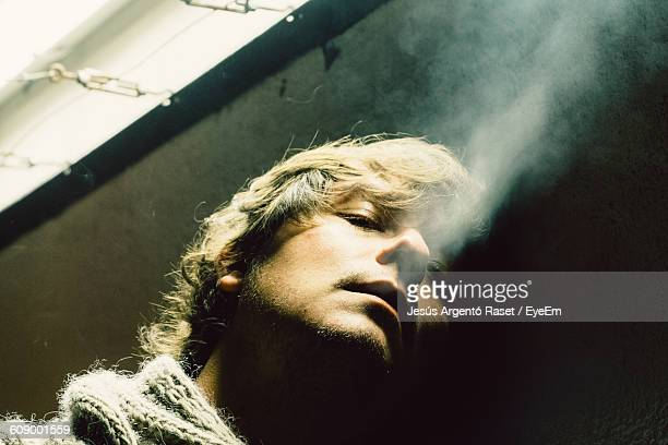 Portrait Of Man Smoking