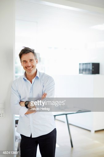 Portrait of man standing smiling