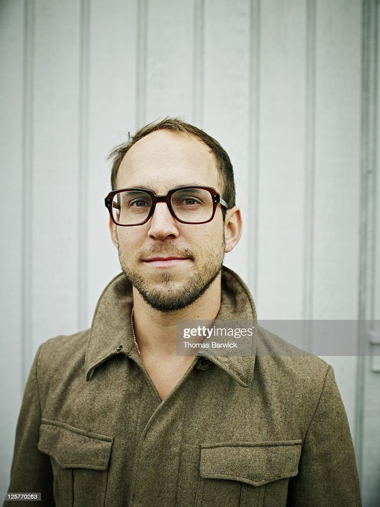 Portrait of man wearing glasses : Stock Photo