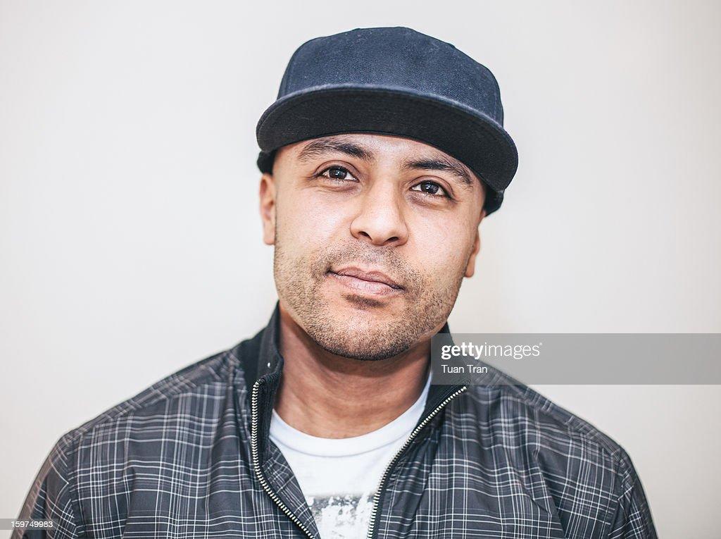 Portrait of man with baseball cap