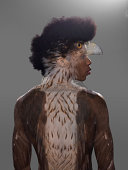 Portrait of man with Eagle overlay on him