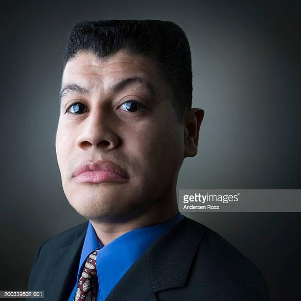 Portrait of man with enlarged eyes, portrait (Digital Enhancement)