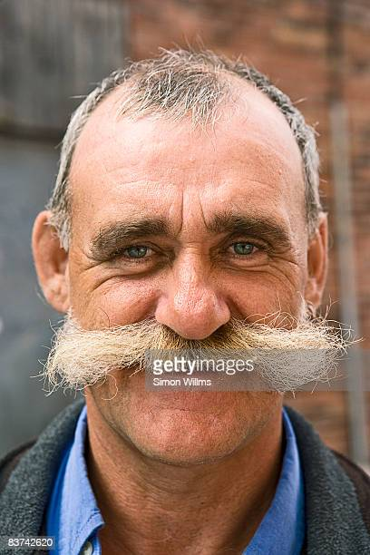 Portrait of man with mustache