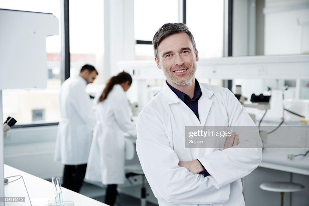 Portrait of man working in laboratory