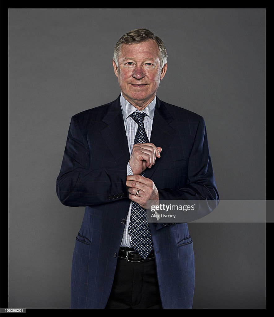 A portrait of Manager Sir <a gi-track='captionPersonalityLinkClicked' href=/galleries/search?phrase=Alex+Ferguson&family=editorial&specificpeople=203067 ng-click='$event.stopPropagation()'>Alex Ferguson</a> of Manchester United at Carrington Training Ground on April 3, 2013 in Manchester, England.