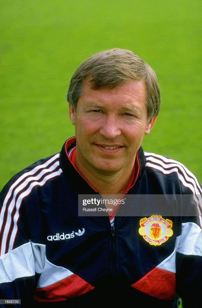 Portrait of Manchester United Manager <a gi-track='captionPersonalityLinkClicked' href=/galleries/search?phrase=Alex+Ferguson&family=editorial&specificpeople=203067 ng-click='$event.stopPropagation()'>Alex Ferguson</a> during a photocall at Old Trafford in Manchester, England. \ Mandatory Credit: Russell Cheyne/Allsport