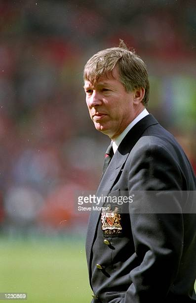 Portrait of Manchester United Manager Alex Ferguson during a match Mandatory Credit Steve Morton/Allsport