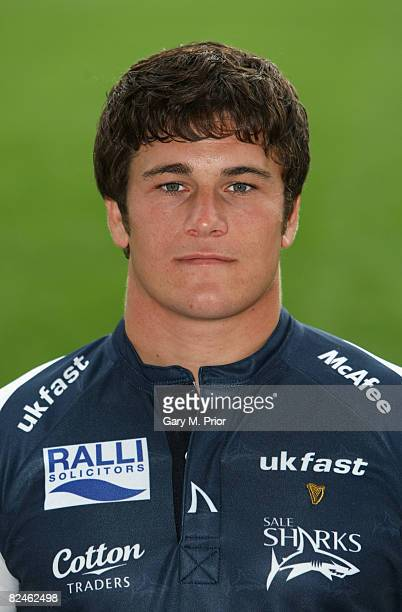 A portrait of Marc Jones of Sale Sharks during a photocall at Edgeley Park on August 19 2008 in Stockport England