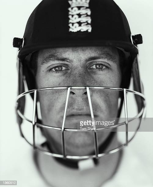 A portrait of Marcus Trescothick of England shot in TauntonSomersetEngland on the 16th of August 2002