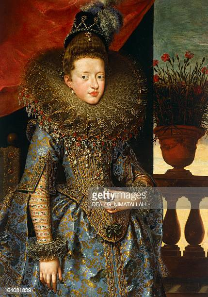 Portrait of Margherita Gonzaga 16041605 Duchess consort of Lorraine painting by Frans Pourbus the Younger oil on canvas cm 193x115 Florence Palazzo...