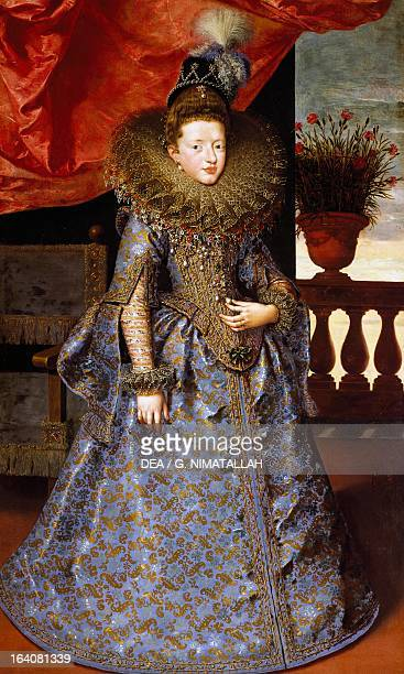 Portrait of Margherita Gonzaga Duchess of Lorraine 16041605 by Frans Pourbus the Younger oil on canvas 193x115 cm Florence Palazzo Pitti Galleria...