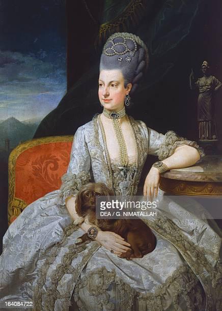 Portrait of Maria Christina Duchess of Teschen Archduchess of Austria painting by Johann Zoffany oil on canvas 131x94 cm Vienna Kunsthistorisches...