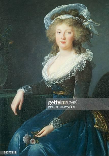 Portrait of Maria Teresa of BourbonNaples painting by Elisabeth Louise VigeeLeBrun oil on canvas 1790 Naples Museo Nazionale Di Capodimonte