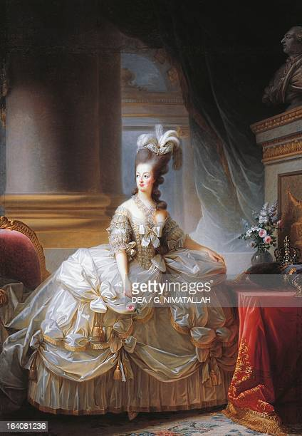 Portrait of Marie Antoinette Archduchess of Austria and Queen consort of Louis XVI King of France painting by Elisabeth Louise VigeeLeBrun 1780...