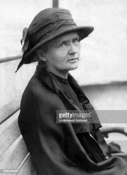 A portrait of Marie Curie who along with her husband discovered radium Paris France December 26 1923