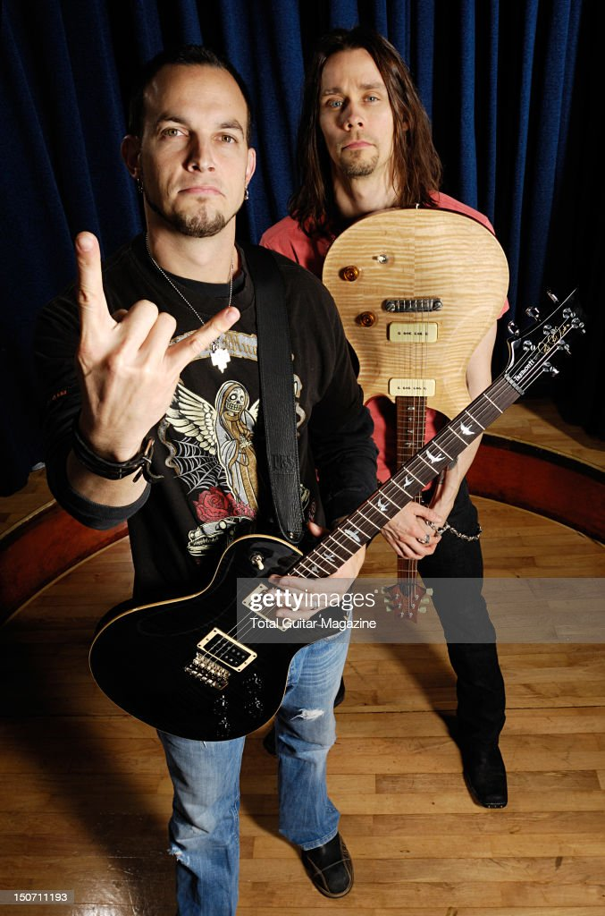 Portrait of Mark Tremonti and Myles Kennedy of American hard rock group Alter Bridge taken on September 17 2007
