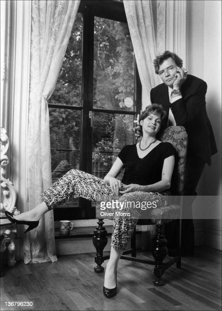 Portrait of married American actors Blair Brown and Richard Jordan as they pose in their apartment New York New York 1985