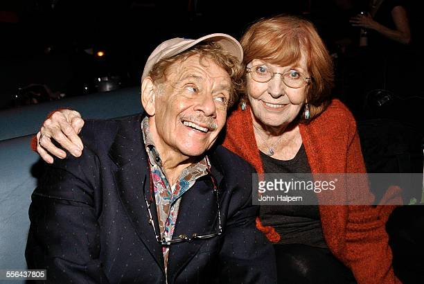 Portrait of married American comedians Jerry Stiller and Anne Meara at the Project ALS Fundraiser held at Lucky Strike Lanes Lounge New York New York...