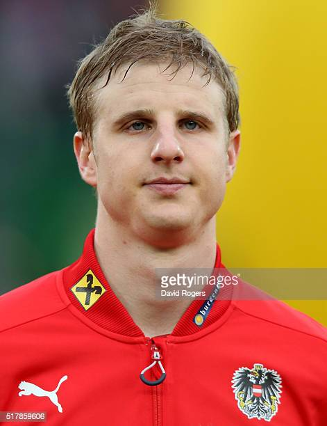 A portrait of Martin Hinteregger of Austria during the international friendly match between Austria and Albania at the Ernst Happel Stadium on March...