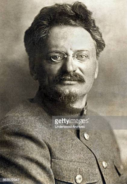 A portrait of Marxist revolutionary and Red Army commander Leon Trotsky in a military uniform Russia circa 1924