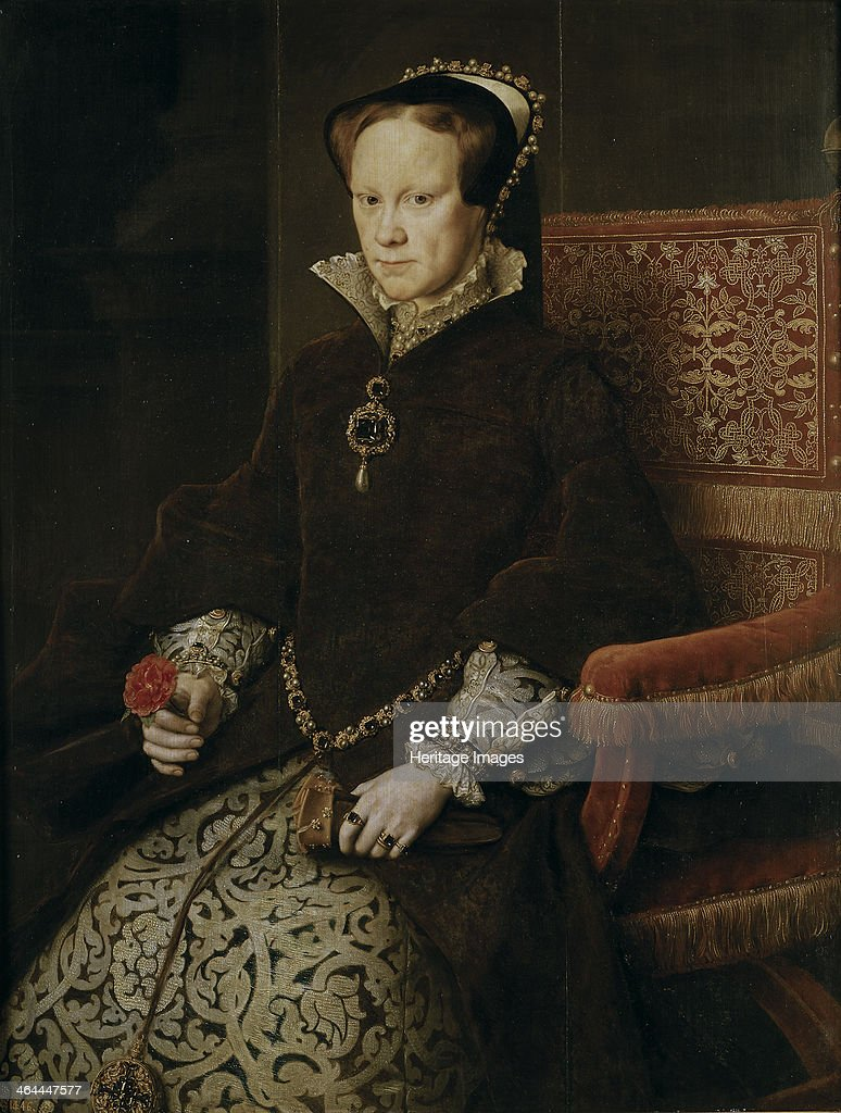 Portrait of Mary I of England 1554 Found in the collection of the Museo del Prado Madrid
