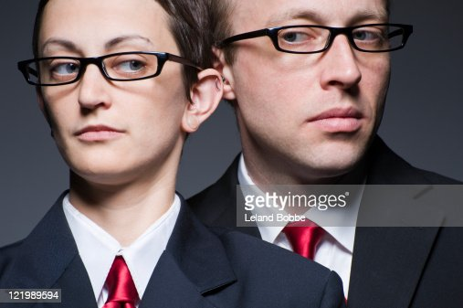 portrait of matching man and woman : Stock Photo