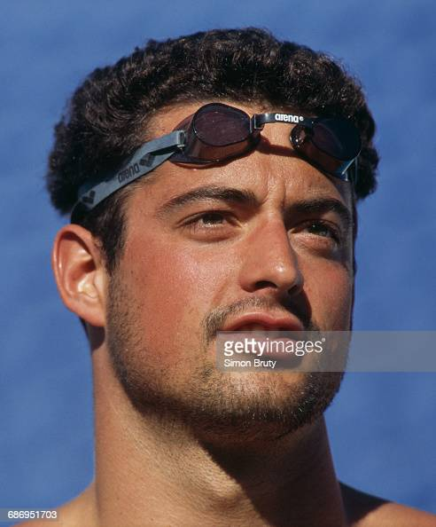 A portrait of Matt Biondi of the United States during the Men's 100 metre freestyle event at the VI FINA World Swimming Championships on 13 January...